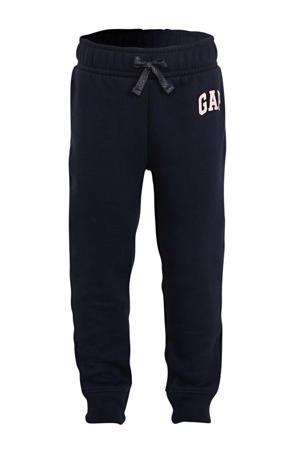 sweatpants met logo donkerblauw