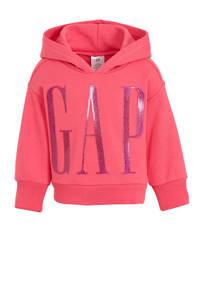 GAP hoodie met logo roze, Roze