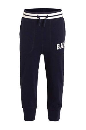 regular fit broek met logo donkerblauw