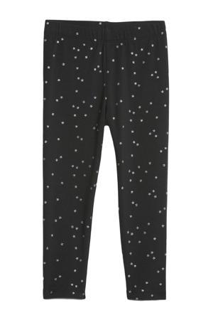 legging met sterren donkerblauw