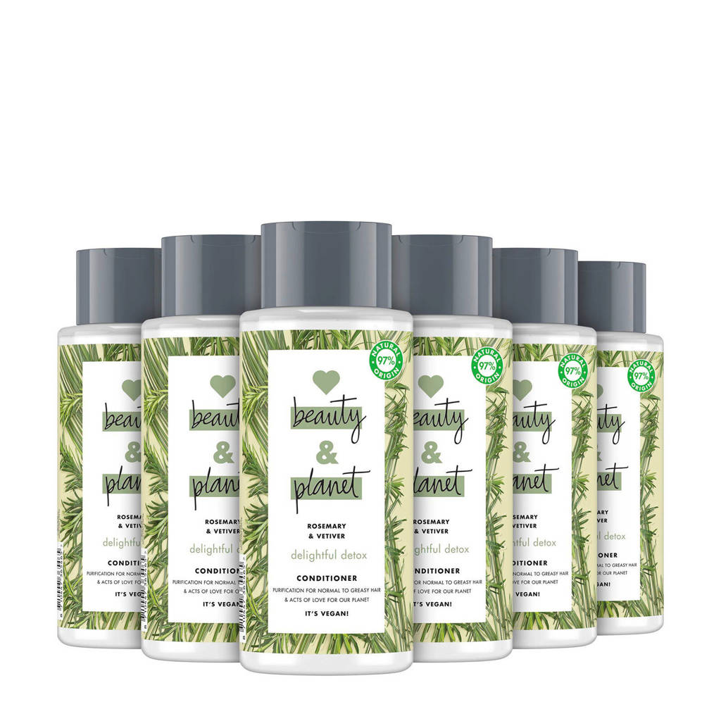 Love Beauty and Planet Rosemary & Vetiver Delightful Detox conditioner- 6 x 400 ml