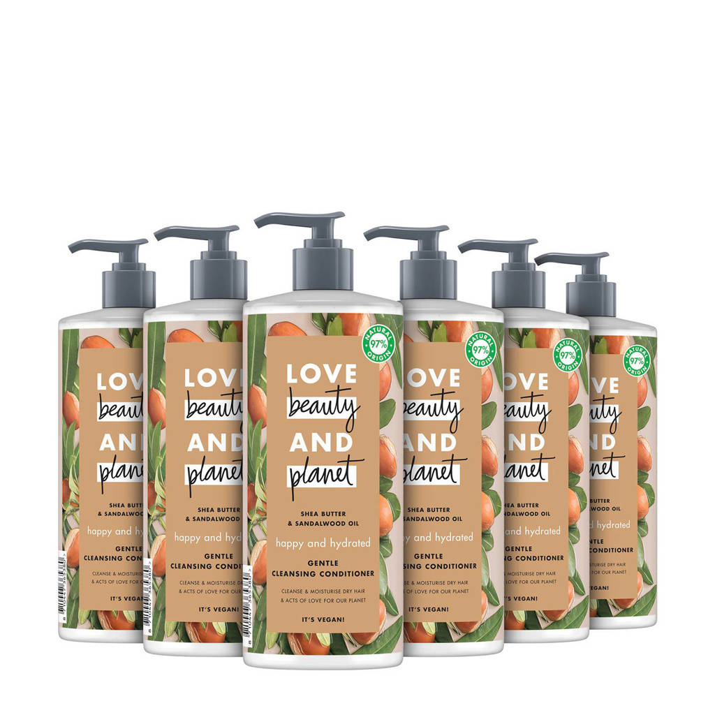Love Beauty and Planet Shea Butter & Sandalwood Cleansing Happy and Hydrated conditioner - 6 x 500 ml