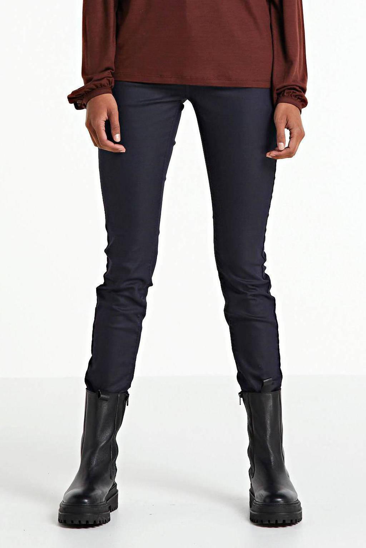 Geisha coated skinny broek donkerblauw, Donkerblauw