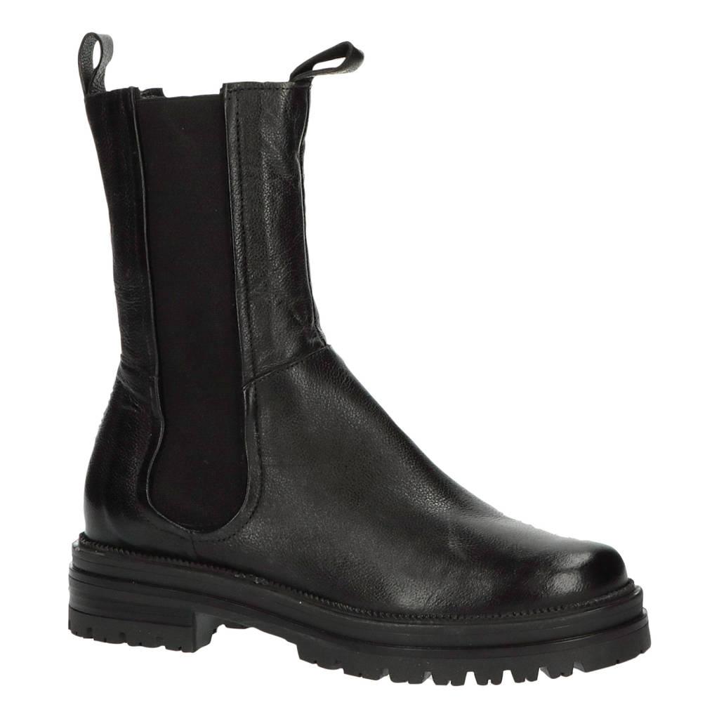 Mjus 77203  hoge leren chelsea boots zwart, Zwart