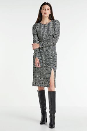 maxi jurk Bess met all over print donkerblauw/multi