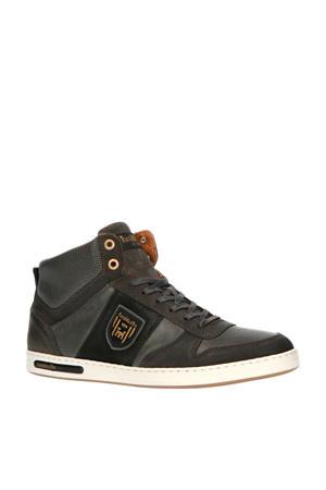Milito Uomo Mid  hoge leren sneakers grijs