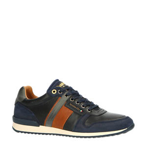 Carpi Uomo Low  leren sneakers blauw