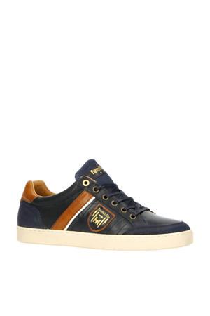 Lucera Uomo Low  leren sneakers donkerblauw