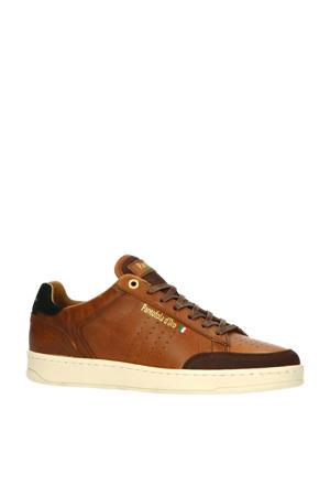 Caltaro Uomo Low  leren sneakers cognac