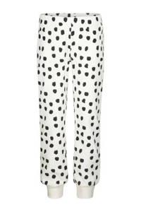 HEMA pyjama stip wit/zwart, Gebroken wit