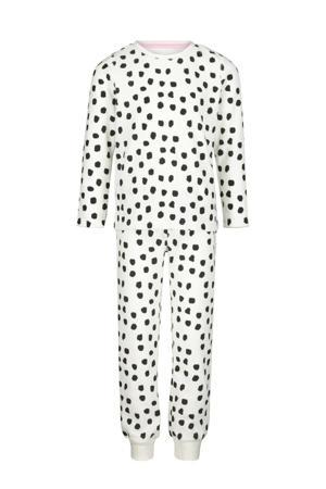 pyjama stip wit/zwart