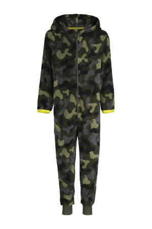 onesie camouflage groen/blauw