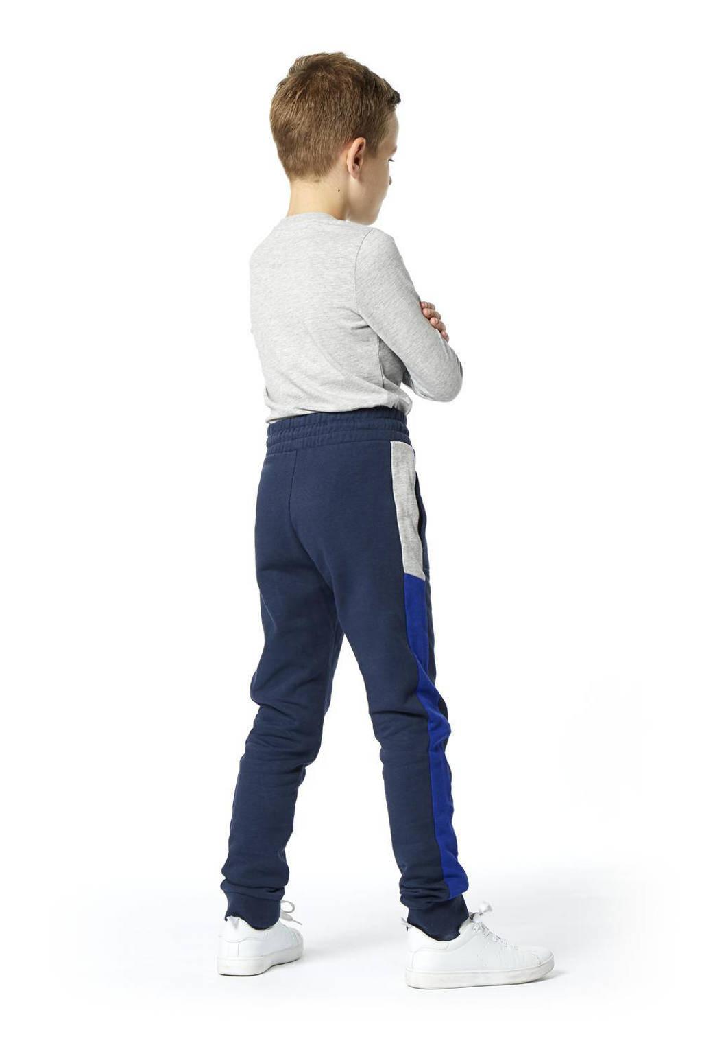 HEMA joggingbroek donkerblauw/blauw/grijs melange, Donkerblauw/blauw/grijs melange