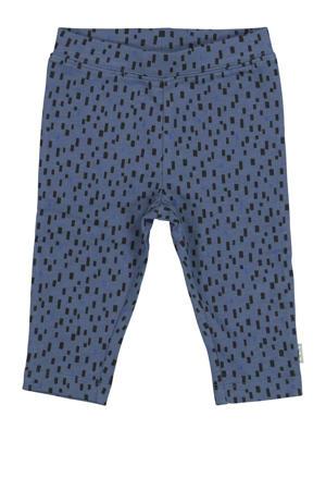 baby broek met all over print donkerblauw