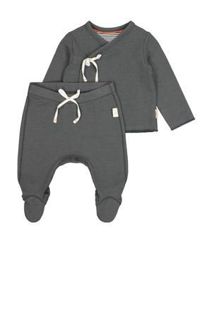 overslagshirt + broekje grijs