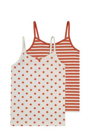 hemd  - set van 2 stip en streep roze