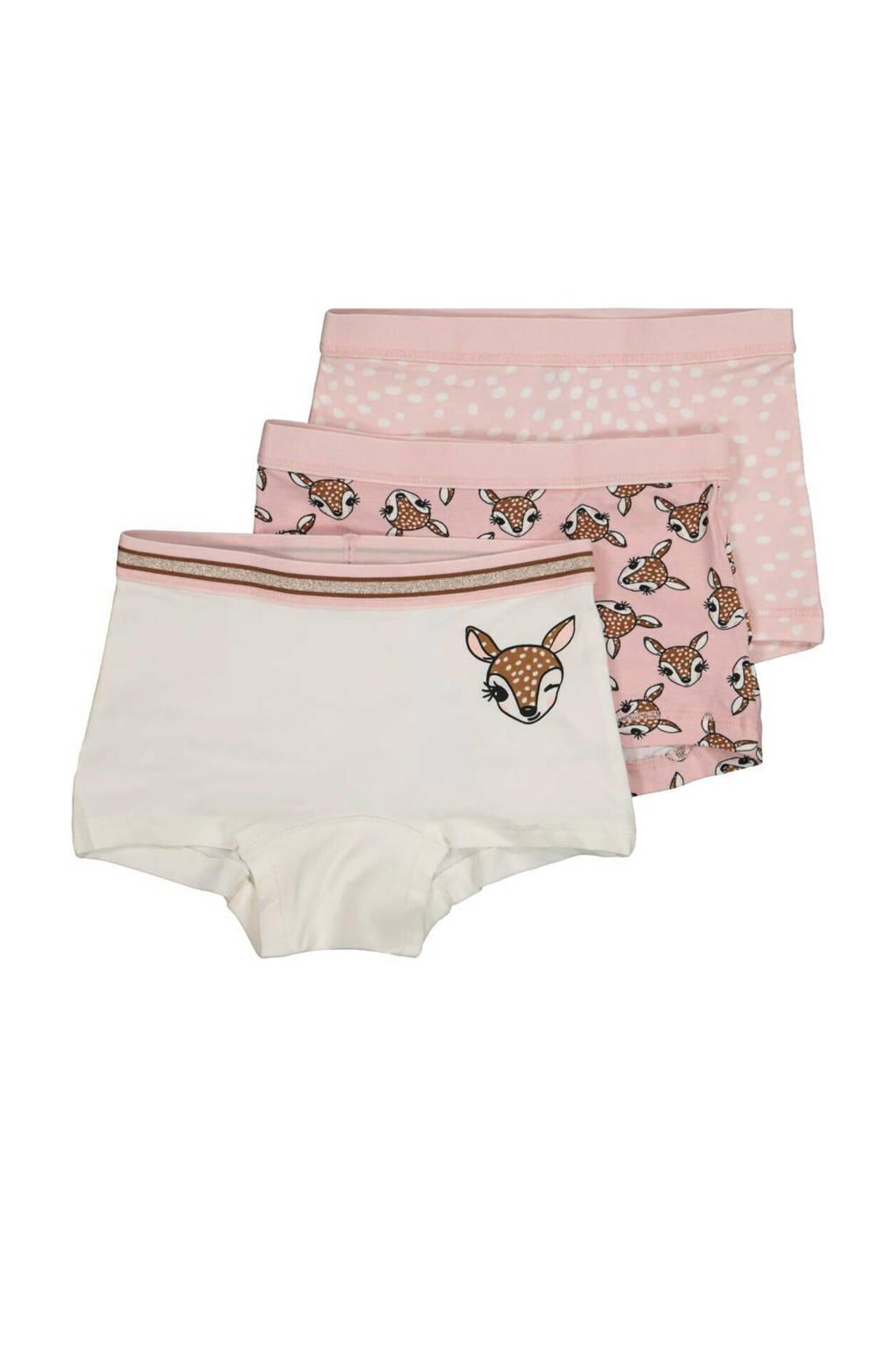 HEMA hipster - set van 3 all over print roze, Roze