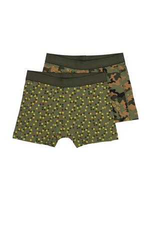 boxershort - set van 2 all over print groen