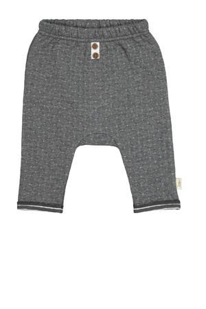baby broek met all over print grijs