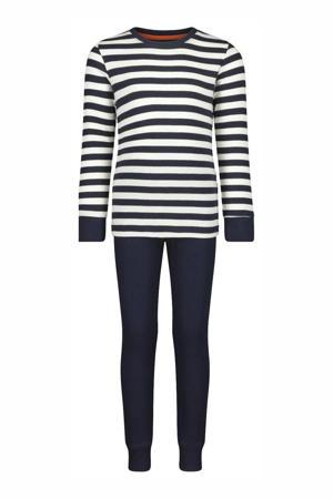 pyjama streep donkerblauw/wit