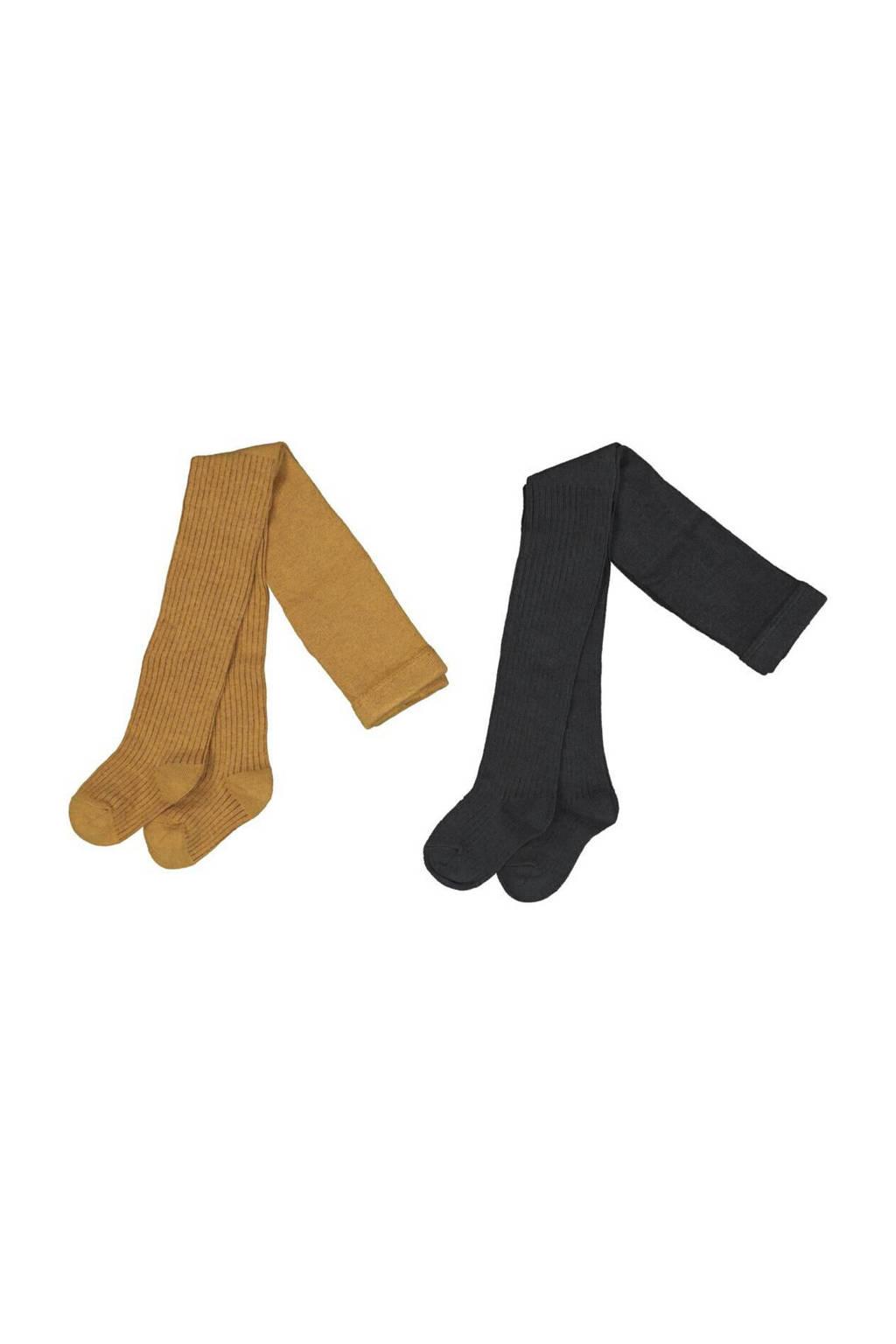 HEMA maillot - set van 2 oker/zwart, Oker/zwart