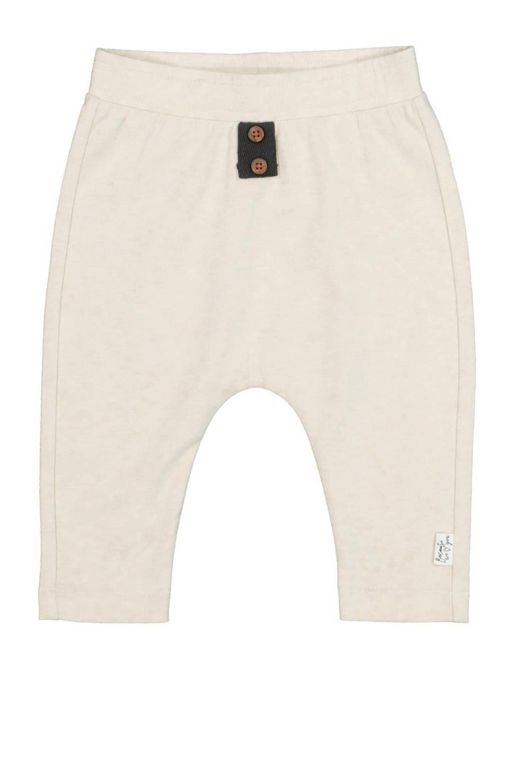 HEMA baby regular fit broek met biologisch katoen gebroken wit, Gebroken wit