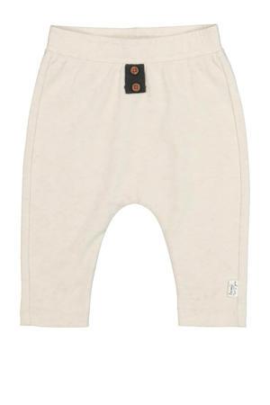 baby regular fit broek met biologisch katoen gebroken wit