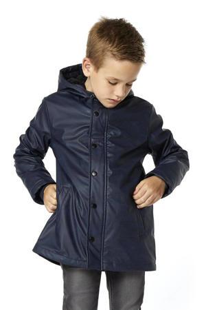 winterjas Joshua met stippen donkerblauw
