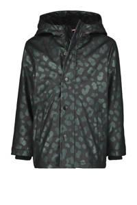 HEMA  winterjas Jilly met dierenprint zwart/grijs, Zwart/grijs