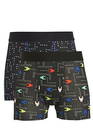 boxershort - set van 2 donkerblauw