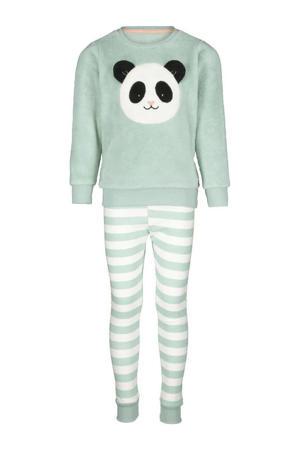 pyjama fleece mintgroen