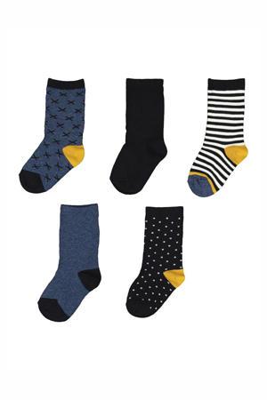 sokken donkerblauw (set van 5)