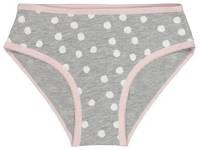 HEMA slip - set van 4 roze/grijs/wit, lichtroze/grijs/wit