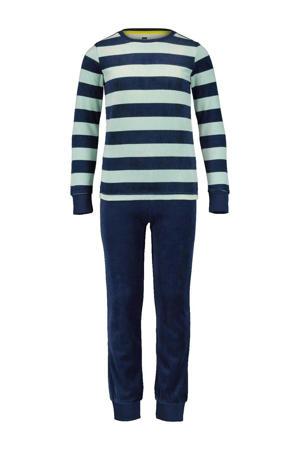 pyjama streep mitgroen/blauw