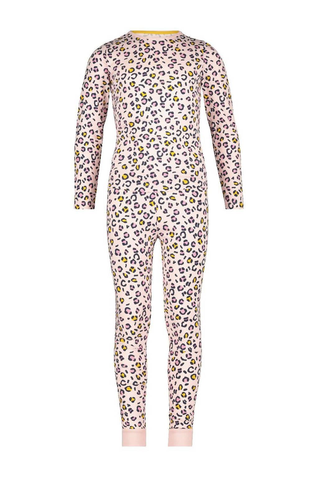 HEMA pyjama panterprint llichtroze, Roze