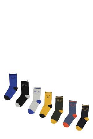 sokken - set van 7 multi