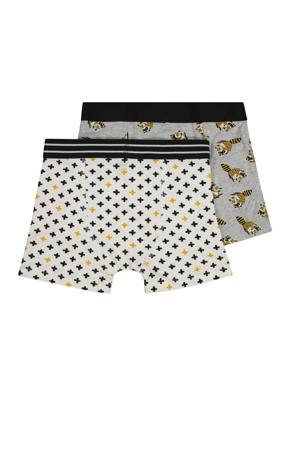 boxershort - set van 2 all over print grijs