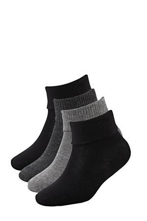 sokken - set van 4 grijs
