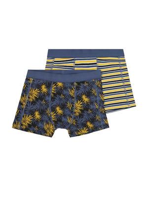 boxershort - set van 2 all over print blauw