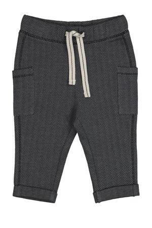 broek met all over print grijsblauw
