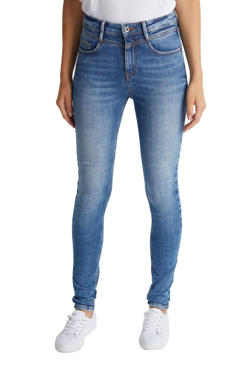 edc Women skinny jeans high waist light denim stonewashed, Light denim stonewashed