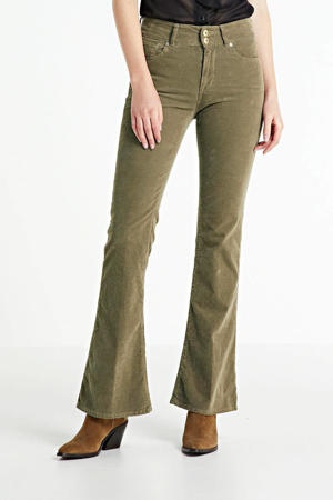 fluwelen high waist flared jeans NEW LUZ FLARE 121/beige