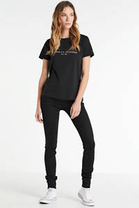 REPLAY skinny jeans New Luz black coated