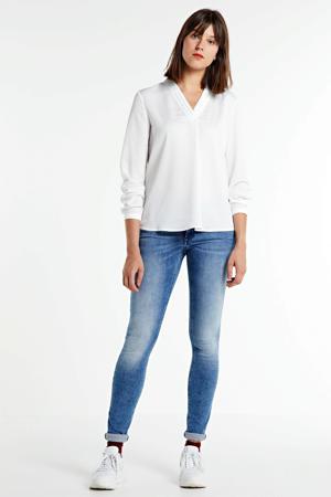 low waist skinny jeans New Luz medium blue