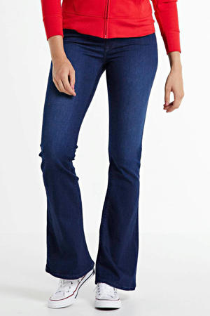 high waist flared jeans New Luz dark blue