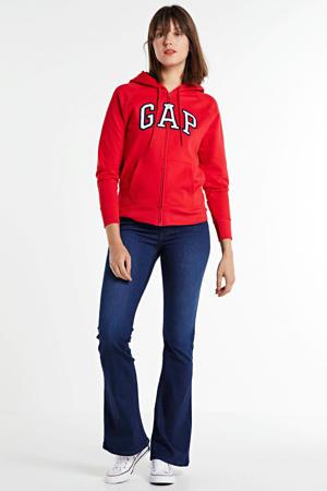 high waist flared jeans New Luz dark blue