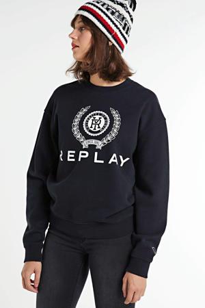 sweater met logo off black