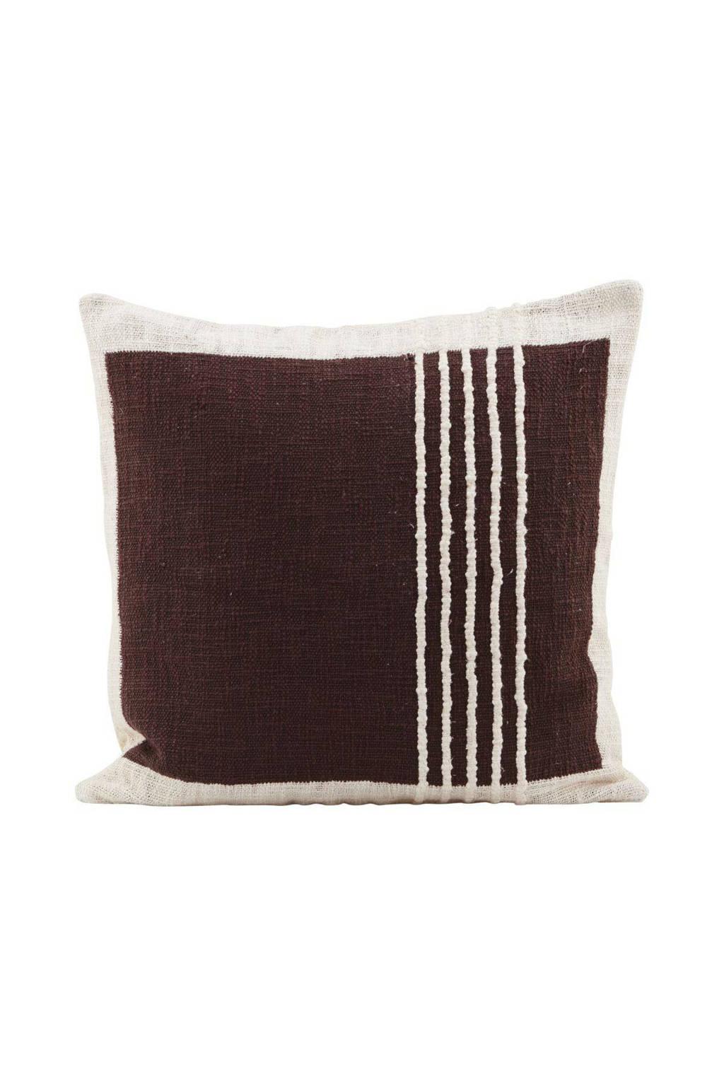 House Doctor sierkussenhoes Yarn  (50x50 cm), Bruin