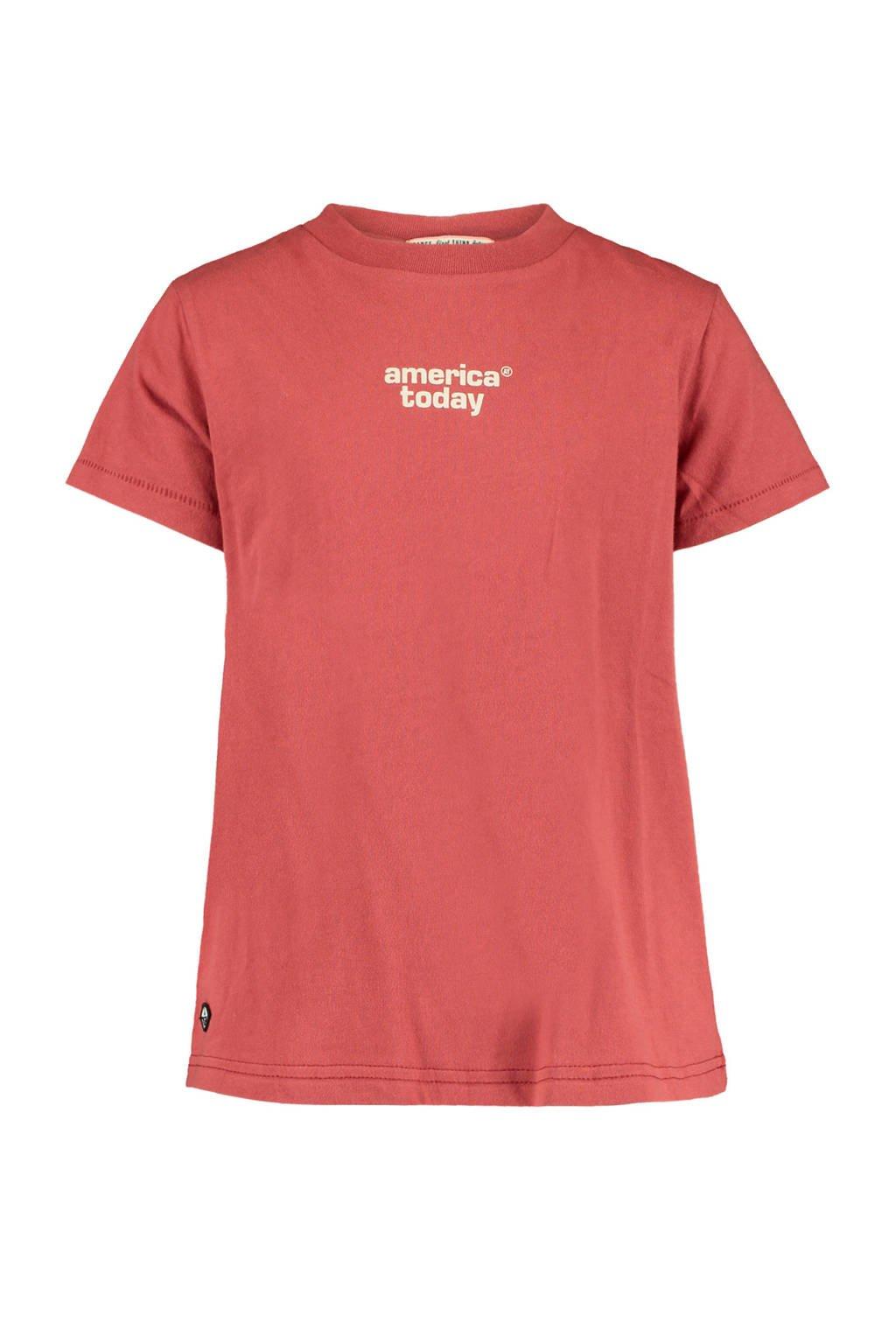 America Today Junior T-shirt Emma met logo rood, Rood