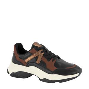 chunky sneakers zwart/brons